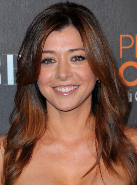 Alyson Hannigans Long Medium Swept Hairstyle At 2010