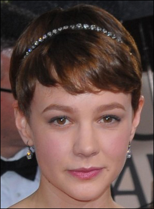Carey Mulligans Cute Short Hairstyle With Headband At