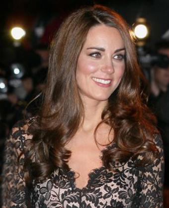 Kate Middletons Long Curly Hairstyle