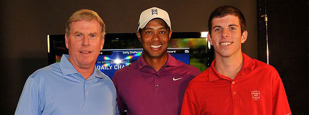 Tiger Woods with Dr. O'Connor's son Kevin and husband Patrick