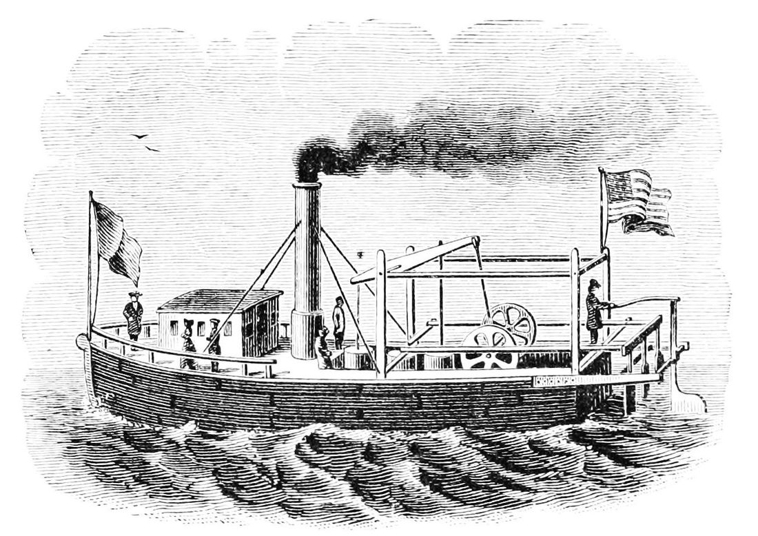 A History Of Manufacturing In America The First Steamboat