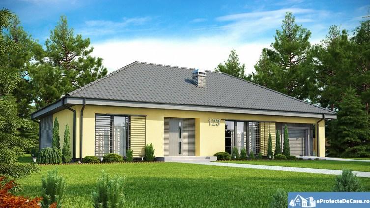 Proiect de Casa cu parter si garaj 301