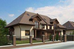 proiect de casa duplex cu 2 etaje si mansarda www.proiectari.md