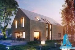 Proiect de casa cu etaj cu garaj pentru o masina