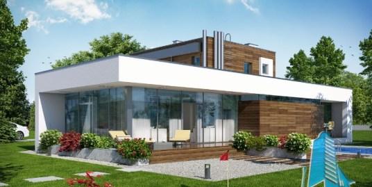 Proiect de casa cu parter, etaj si garaj pentru doua automobile-100618