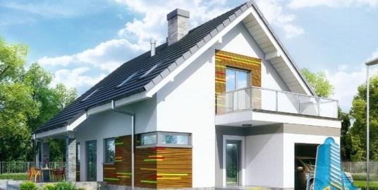 Proiect de casa cu parter, mansarda si garaj pentru un automobil-100632