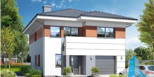 Proiect de casa cu etaj si garaj pentru un automobil-100698