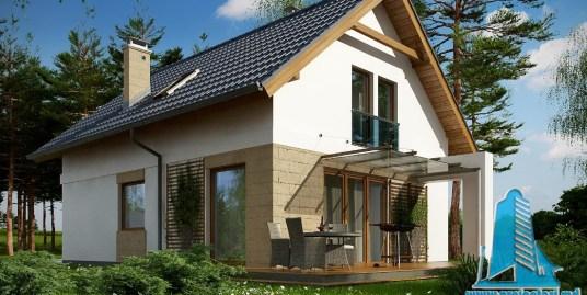 Proiect de casa cu parter si mansarda -100740