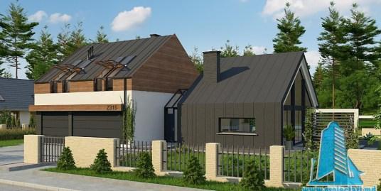 Proiect de casa cu parter, etaj si garaj pentru trei automobile-100769