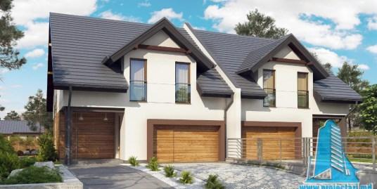 Proiect de casa de tip duplex cu parter, mansarda si garaj pentru un automobil-100818