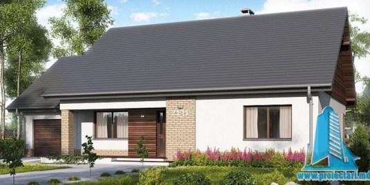 Proiect de casa cu parter si garaj pentru un automobil-100730