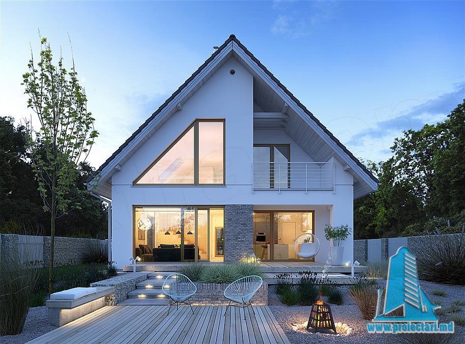 Proiect de casa cu parter si mansarda-100789