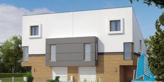 Proiect de casa duplex cu parter, etaj, mansarda si garaj pentru un automobil-100883
