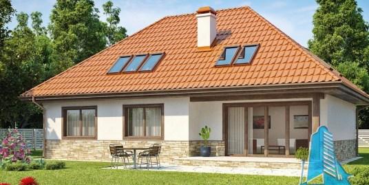 Proiect de casa cu parter si mansarda -100915