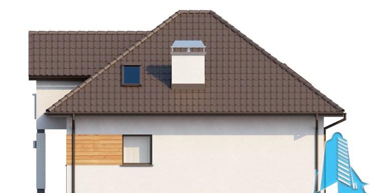 Proiect de casa cu parter, mansarda fatada1