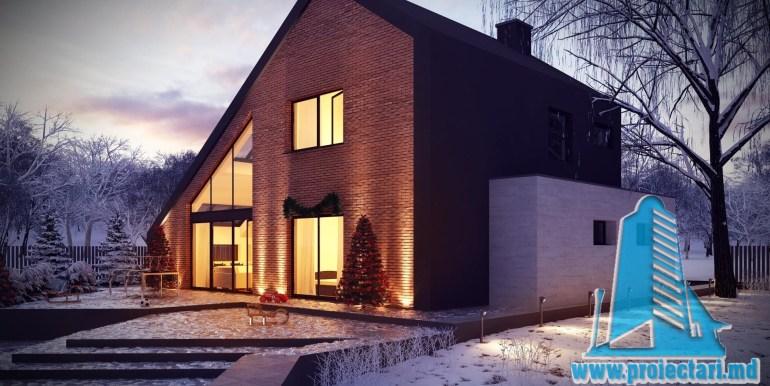 Proiect de casa mica din caramida cu mansarda4