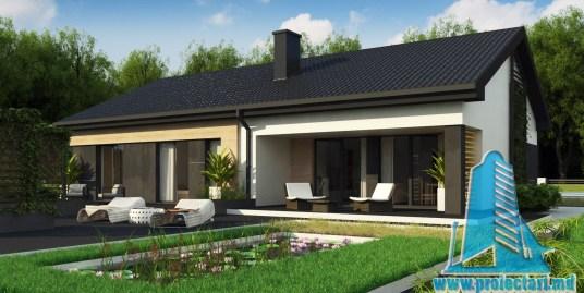 Proiect de casa de tip Duplex de 160m2 cu parter si acoperis din tigla ceramica – 100975
