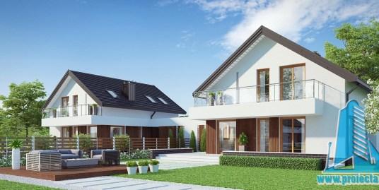 Casa duplex cu parter, mansarda si garaj pentru un automobil-228-101059