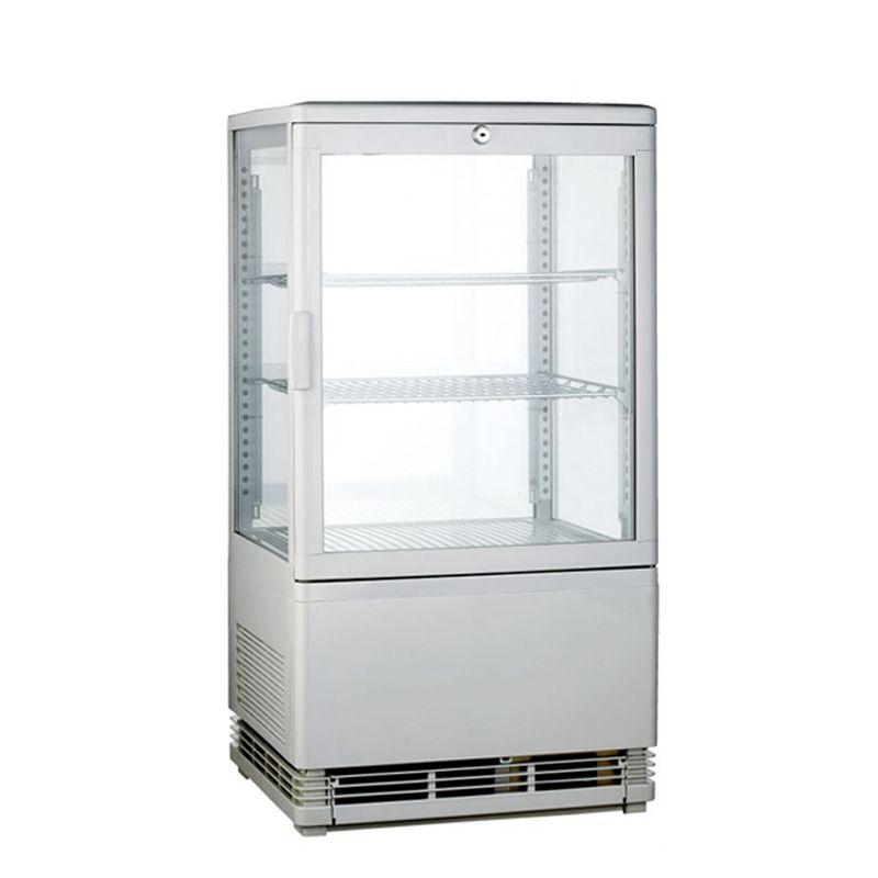 mini vitrine refrigeree a poser blanche 58 litres