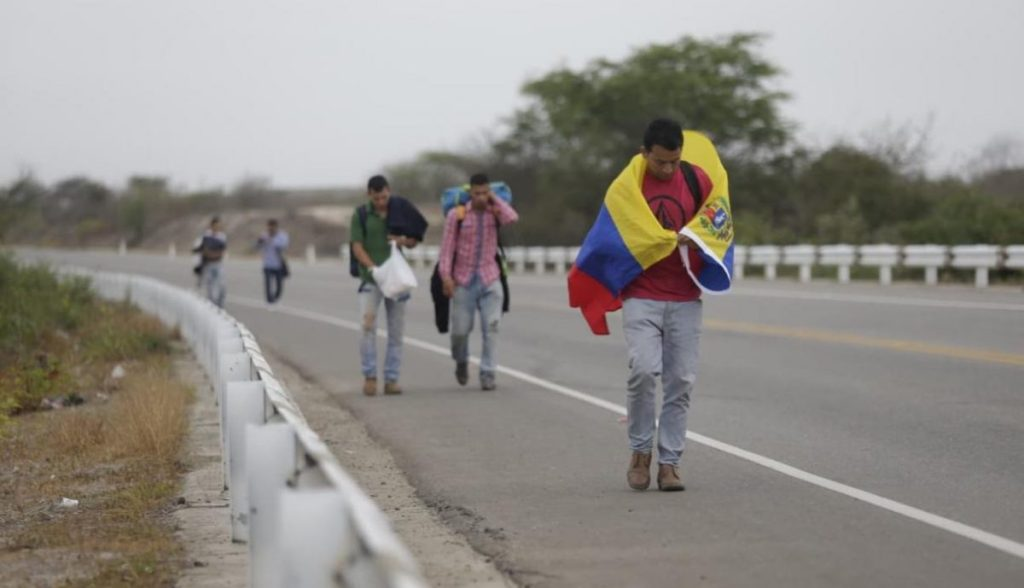 reflujo caminantes venezolanos