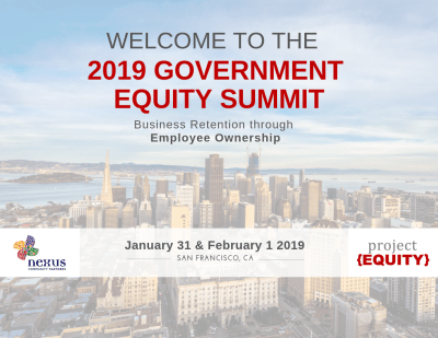 Government Equity Summit Sign