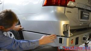 Test fit plastic bumper