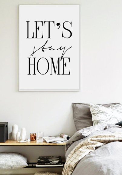 Lets stay Home Artwork