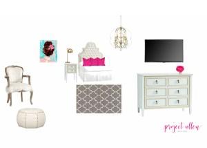 Project Allen Designs Girls Room Board