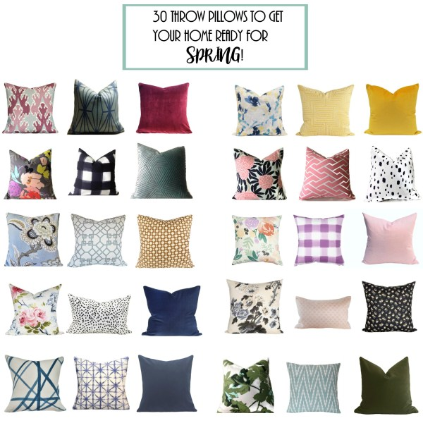 30 Throw Pillows To Get Your Home Ready For Spring!