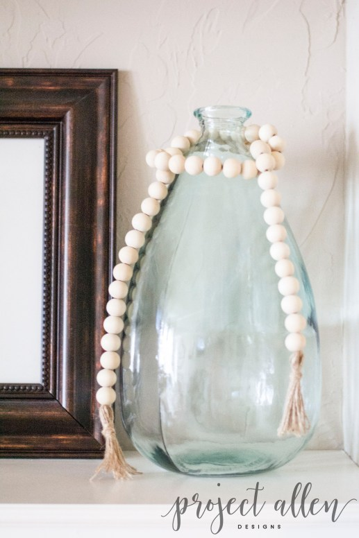Project Allen Designs DIY Wood Bead Garland!