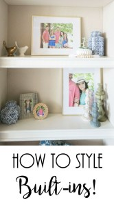 How To Style Built-Ins, Styling Bookshelves