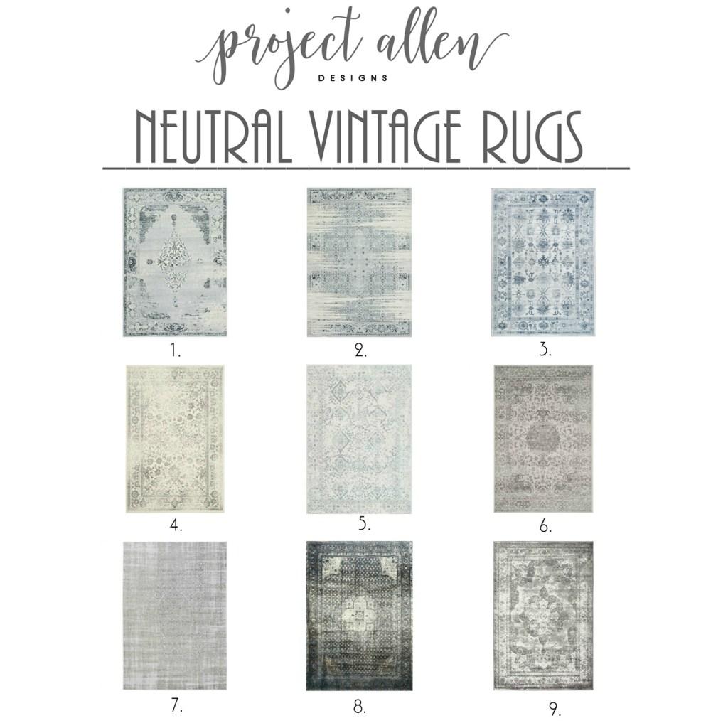 Neutral Vintage Area Rugs