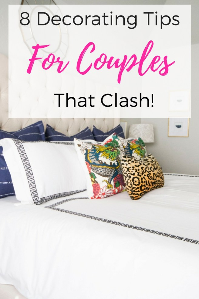 8 Decorating Tips For Couples That Clash | Try this step by step guide to decorating for couples | #howtodecorate #decoratingtips #decoratingtips&tricks