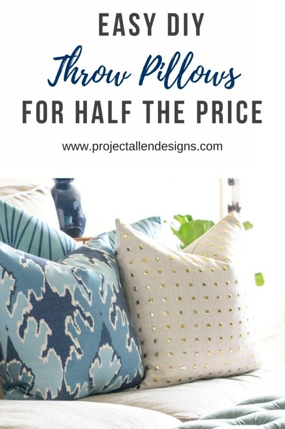 DIY Throw Pillows | Easy Diy Throw Pillows | Zippered Pillow covers #diythrowpillows #diyhomedecor