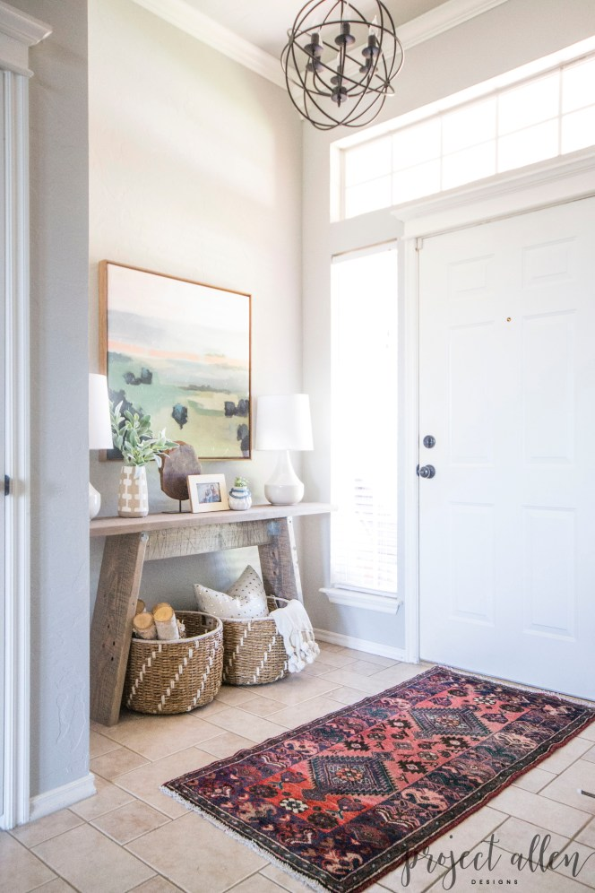Modern Entryway Makeover | See how it went from a royal mess to huge success with just a few simple updates.