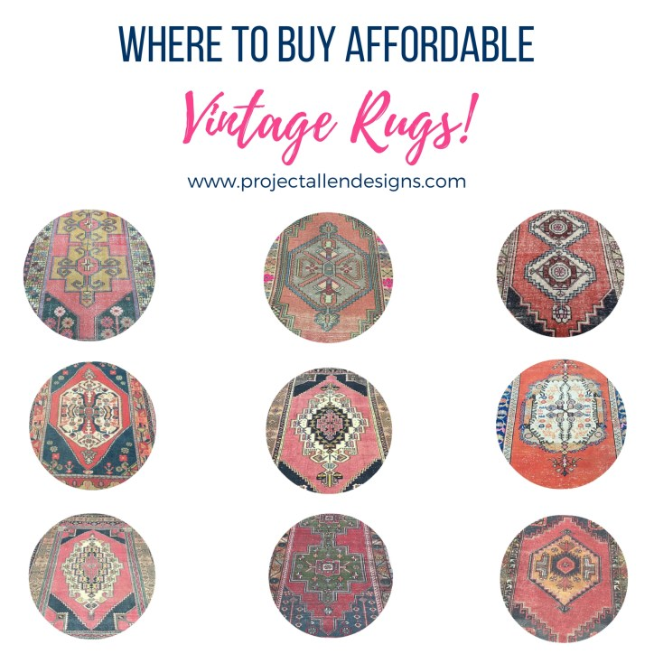 Affordable Vintage Rugs: Find out where to buy the most beautiful yet affordable Vintage rugs, these one of a kind options can quickly add character and warmth to any space.