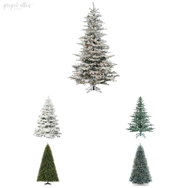 Top Christmas Decor Ideas, Christmas Trees, cheap Christmas Trees, Flocked Christmas Trees, Spruce, unlit, prelit