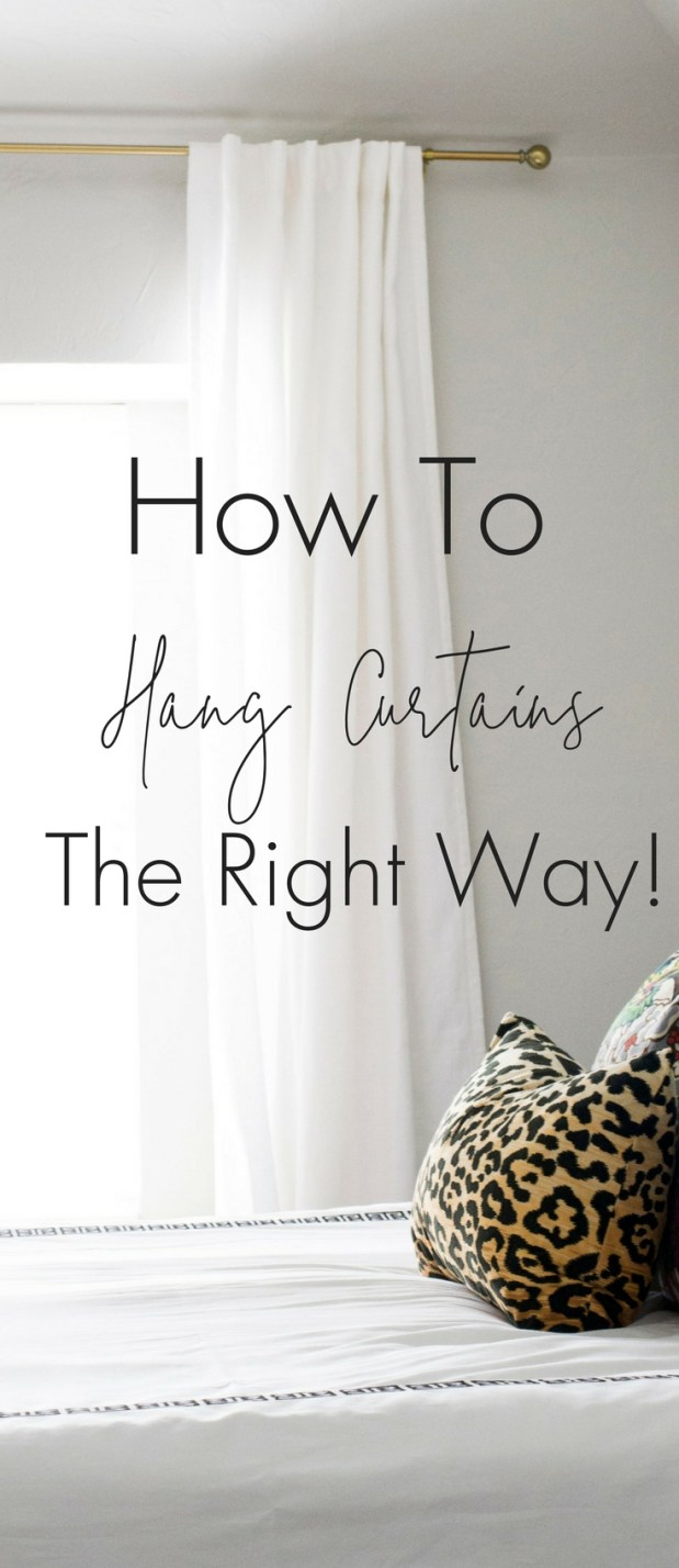 How To Hang Curtains The Right Way! This guide will instantly show you how you can make even the smallest room look bright and airy just by changing the way you hang curtains.