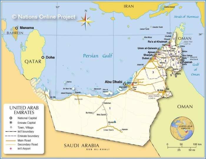 United Arab Emirates Map