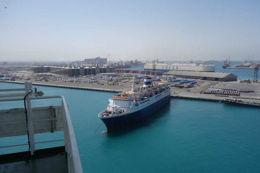 Entering into the port of Jeddah very close to the bulk terminal66