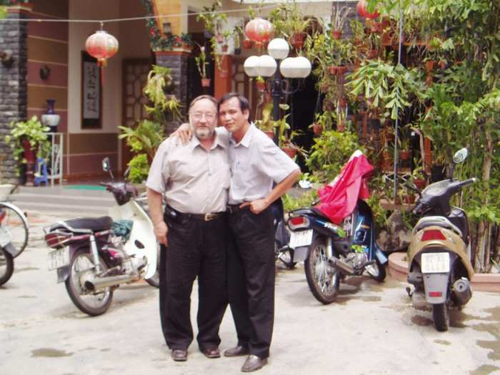 With a customer in Vietnam