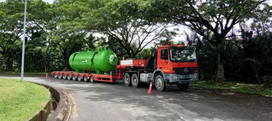 Jasra Logistics Transportation of Pressure Vessel from Miri Port, Sarawak to Brunei Refinery