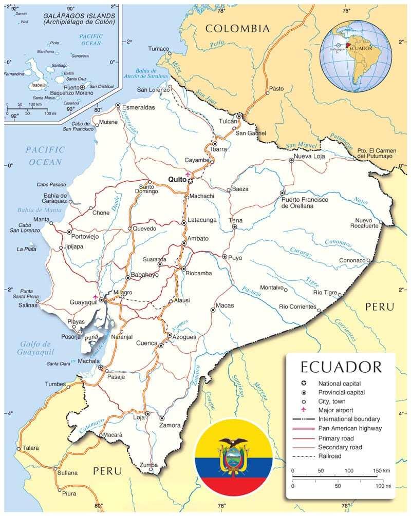 Ecuador including Galapagos