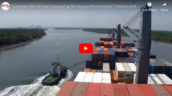 Guayas River - Container Ship