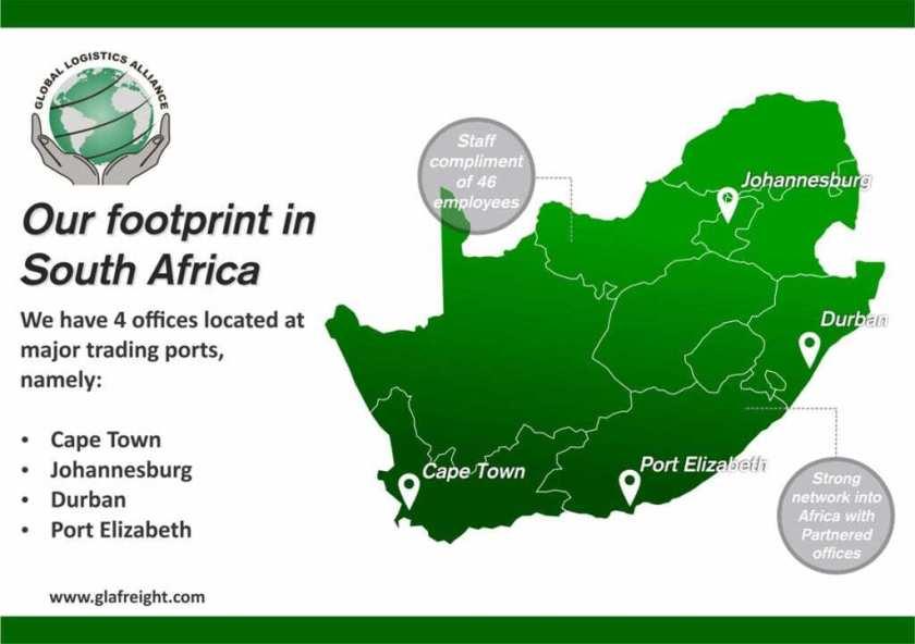 GLA Footprint in South Africa