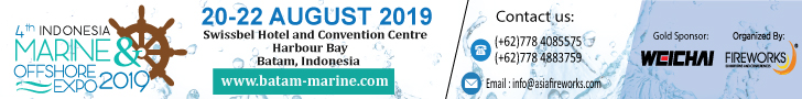 4th Indonesia Marine and offshore Expo 2019 20-22 August 2019