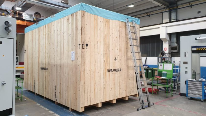 A crate being finished