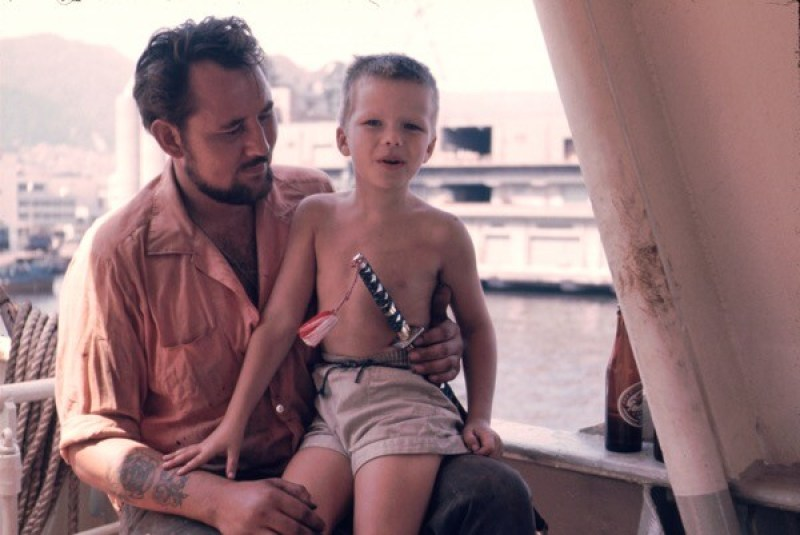 Onboard mv Thyra Torm in Durban, 1967 with Norwegian bosun who later on passed away. Going through old photos - incredible.