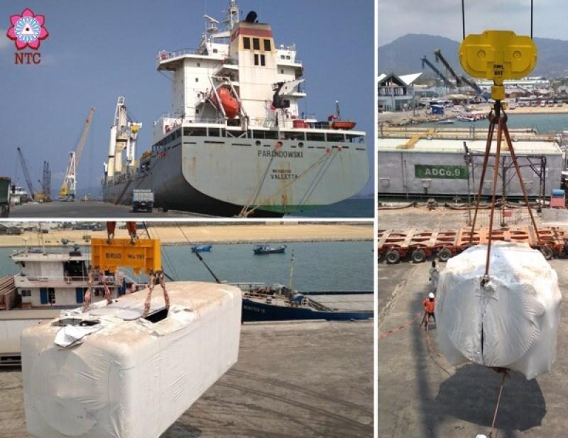Recent project of wind turbine equipment handled by NTC Logistics.  Mumbai to Camranh onboard vessel MV Parandowski.  12 hubs and 12 machine heads.
