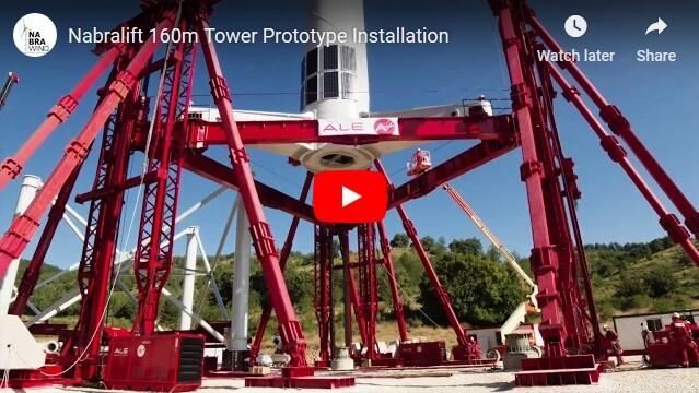Nabralift 160m Tower Prototype Installation